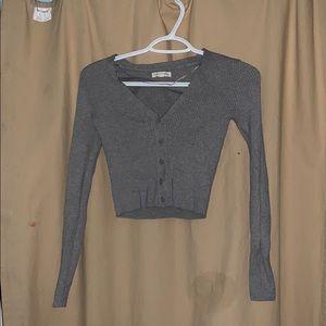 Pacsun Grey Long Sleeve Crop Top!!